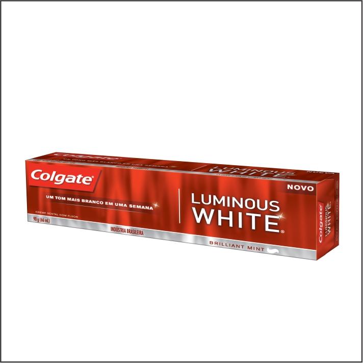 CREME DENTAL COLGATE LUMINOUS WHITE 90G BRILLIANT MINT