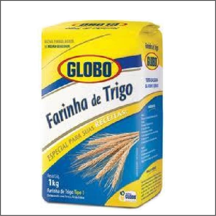 FARINHA TRIGO GLOBO 1KG