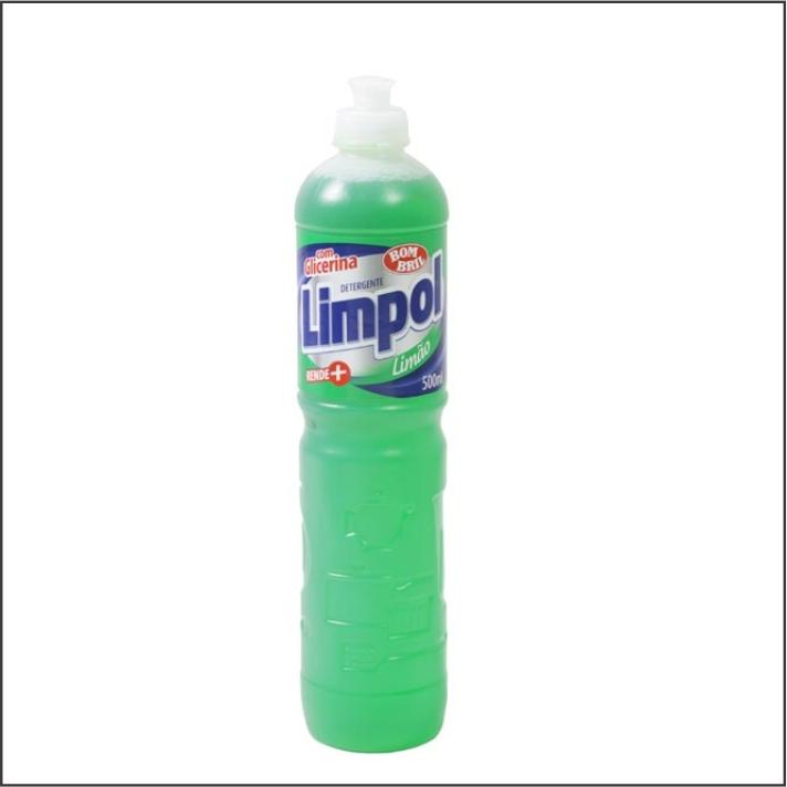DETERGENTE LIQ LIMPOL 500ML LIMAO