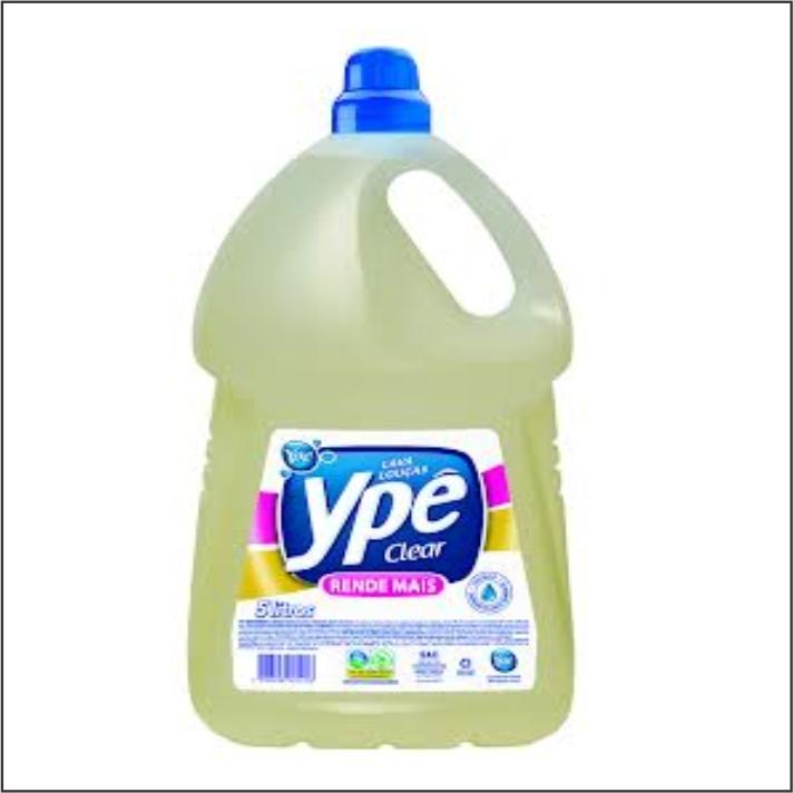 DETERGENTE LIQ YPE 5L CLEAR
