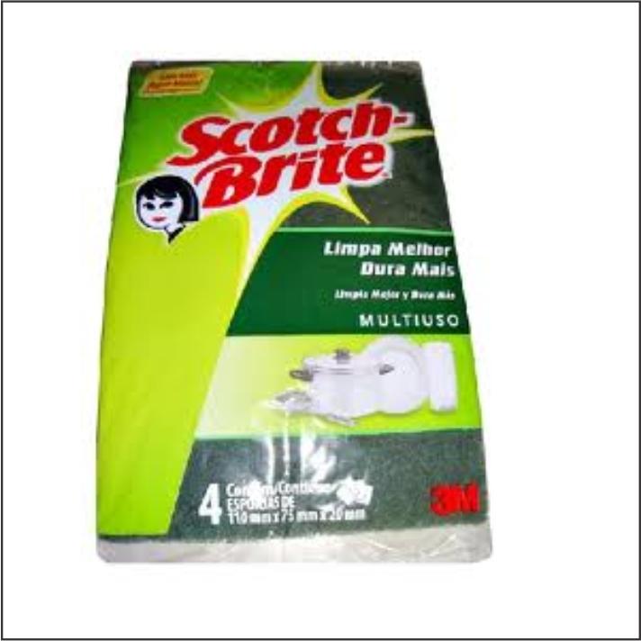 ESPONJA 3M SCOTCH BRITE LV+PG- COM4