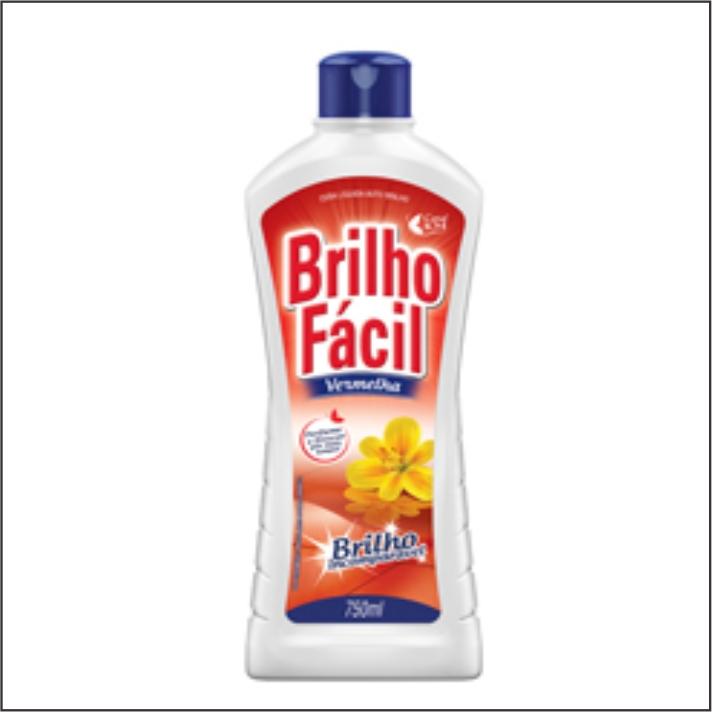 CERA BRILHO FACIL 750ML VERMELHA