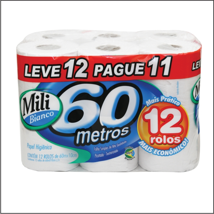 PAPEL HIG MILI BIANCO FS 60M LV12 PG11 NEUTRO