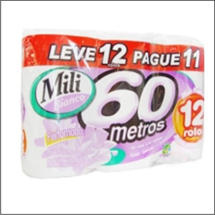 PAPEL HIG MILI BIANCO FS 60M LV12 PG11 PERFUMADO
