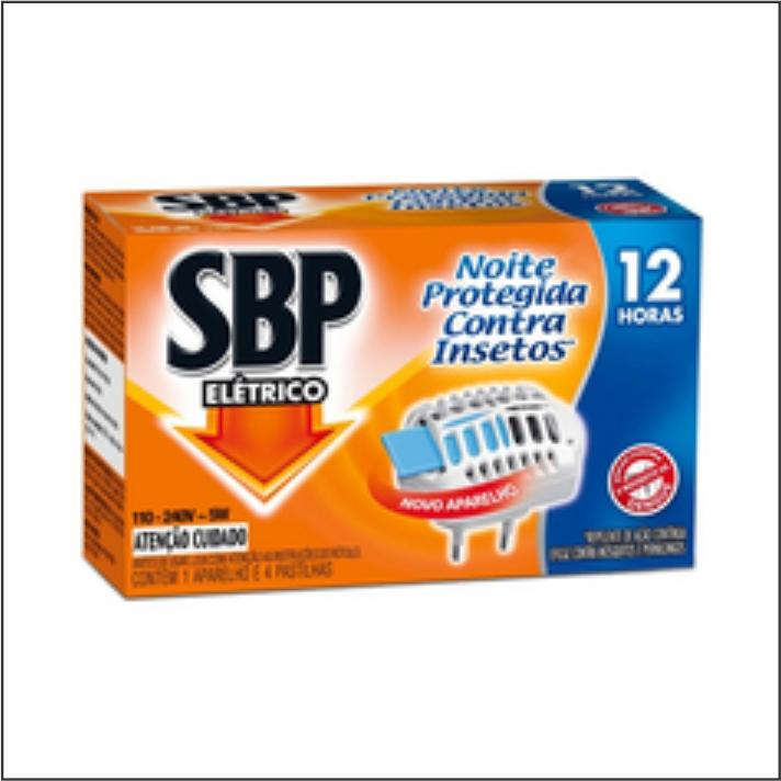 INSETICIDA SBP ELETRICO APARELHO+4 PASTILHAS